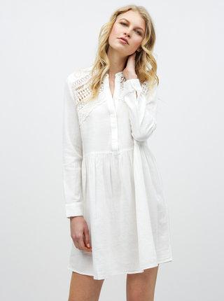Biele šaty s čipkou Noisy May Arge