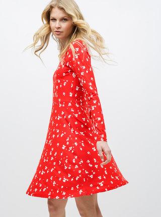 Červené květované šaty VERO MODA Gerda
