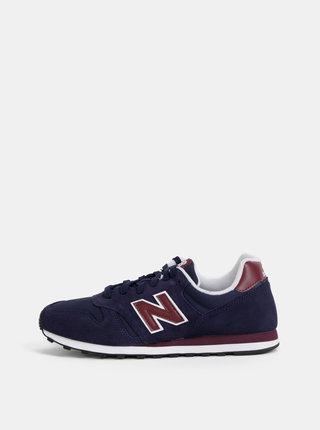 Pantofi sport barbatesti albastru inchis din piele intoarsa New Balance 373