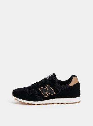 Čierne pánske semišové tenisky New Balance 373