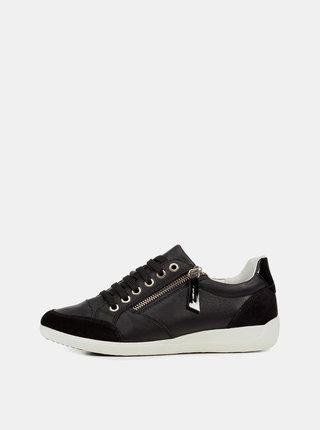Pantofi sport negri de dama din piele Geox Myria