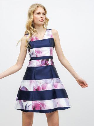 Ružovo–modré kvetované šaty Dorothy Perkins