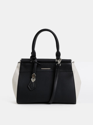 Krémovo–čierna kabelka Bessie London