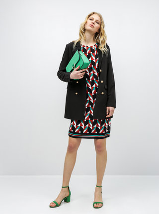 Zeleno-černé vzorované šaty Dorothy Perkins Tall
