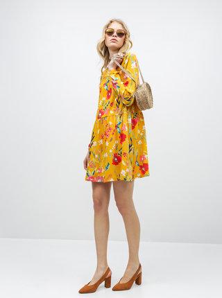 Žluté květované šaty ONLY Penny