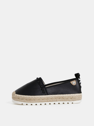 Espadrile negre de dama cu detalii decorative Tom Tailor Denim
