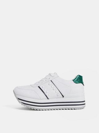Pantofi sport albi de dama cu platforma Tom Tailor