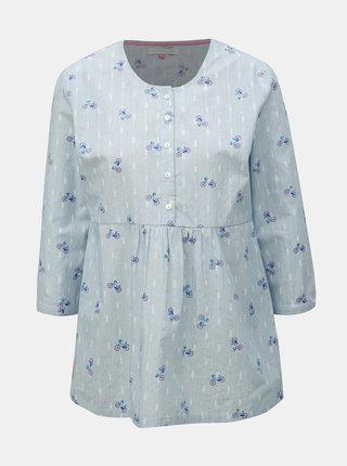 Bluza albastru deschis lejera cu model si nasturi Brakeburn