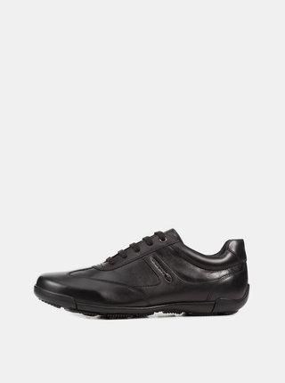 Čierne pánske tenisky s koženými detailmi Geox Edgware