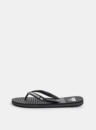Papuci flip-flop barbatesti gri-negru in dungi Quiksilver Molokai