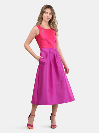 Rochie midi roz-mov Closet