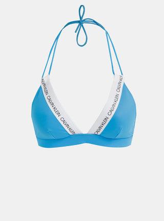 Modrý dámsky vrchný diel plaviek Calvin Klein Underwear