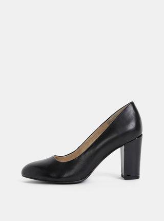 Pantofi negri din piele s.Oliver