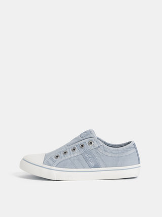 Pantofi slip on albastru deschis de dama s.Oliver