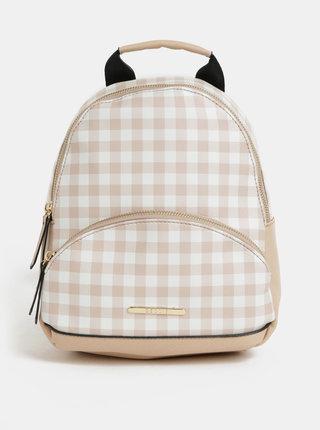 Bielo–béžový kockovaný batoh Bessie London
