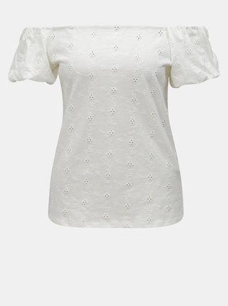 Krémové tričko s odhalenými rameny Dorothy Perkins