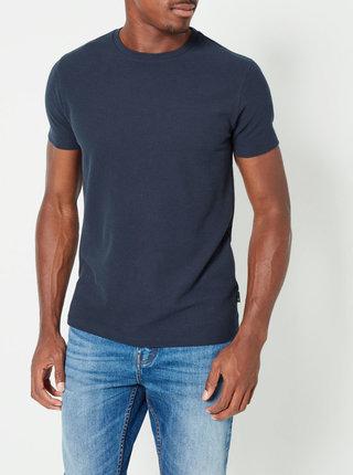 Tricou basic albastru inchis Burton Menswear London