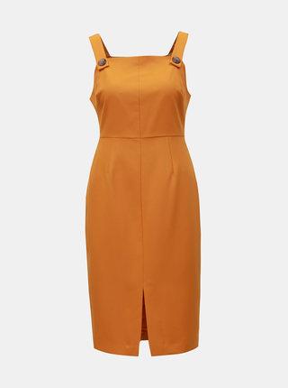 Oranžové puzdrové šaty na ramienka Dorothy Perkins Petite