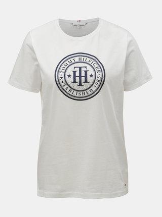 Biele dámske tričko s potlačou Tommy Hilfiger Vera