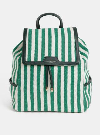Krémovo–zelený pruhovaný batoh Paul's Boutique Cassandra
