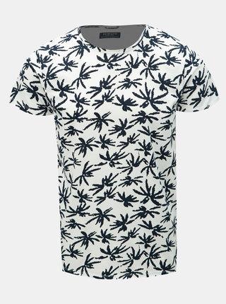 Černo-bílé vzorované tričko Dstrezzed
