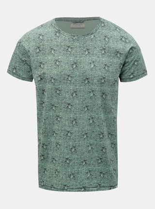 Zelené vzorované tričko Dstrezzed