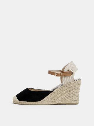Sandale negre cu platforma wedge Dorothy Perkins