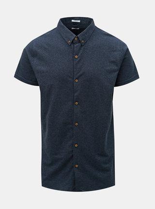 Camasa albastru inchis cu model discret Dstrezzed