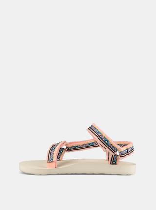 Sandale roz de dama cu model Teva