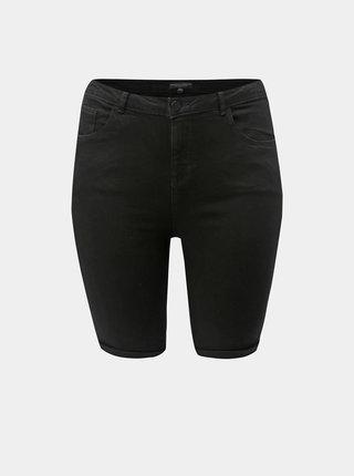 Pantaloni scurti negri din denim Dorothy Perkins Curve