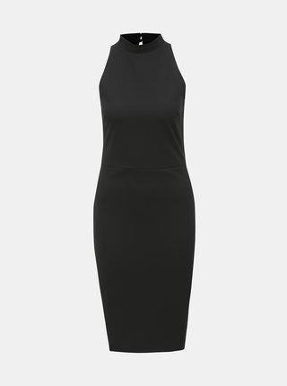 Čierne puzdrové šaty so stojačikom Dorothy Perkins