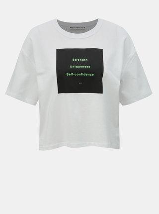 Bílé krátké tričko s potiskem TALLY WEiJL