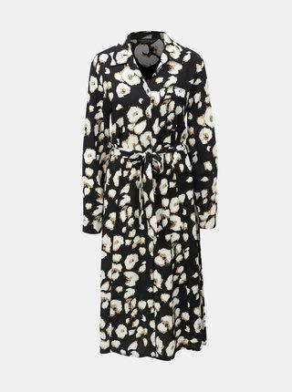 Čierne košeľové šaty s leopardím vzorom Dorothy Perkins