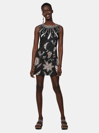 Černé vzorované šaty Desigual Kira