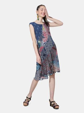 Modro-vínové vzorované šaty Desigual Rasha