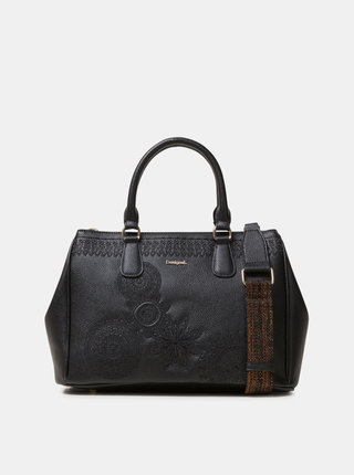 Čierna kabelka s výšivkami Desigual Dark Amber