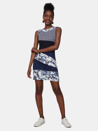 Tmavě modré vzorované šaty Desigual Olivia
