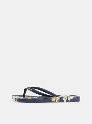Papuci flip-flop albastru inchis floral de dama Tom Joule