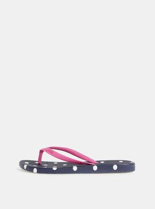 Modro–ružové dámske bodkované žabky Tom Joule