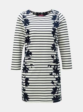 Modro–krémové pruhované šaty Tom Joule Quinn