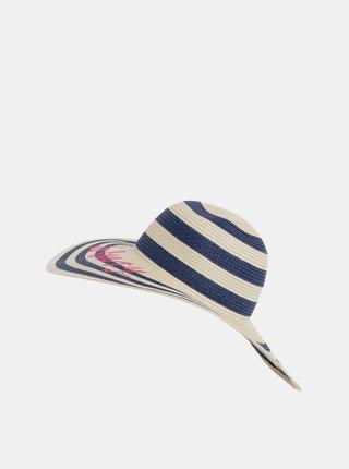 Modro-béžový dámský pruhovaný klobouk s výšivkou Tom Joule Shade