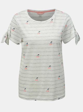 Biele pruhované tričko s motívom čerešní Tom Joule Tiggy