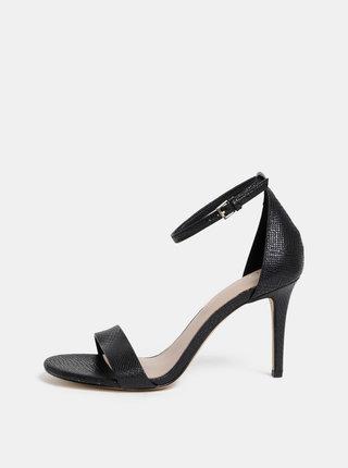 Čierne sandálky s hadím vzorom ALDO Piliria