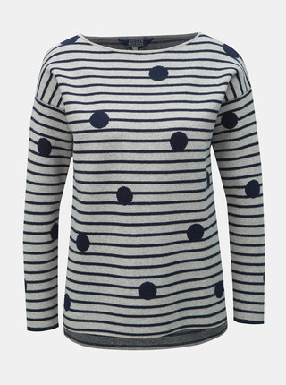 Sivý sveter s prímesou vlny Tom Joule Uma