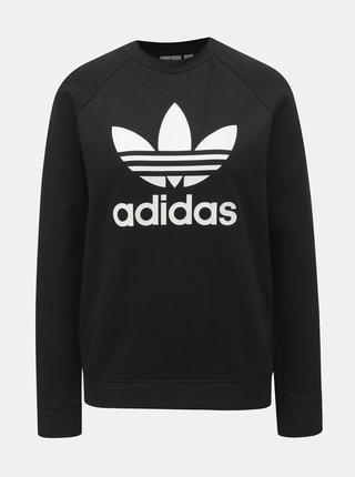 Bluza sport neagra de dama cu imprimeu adidas Originals