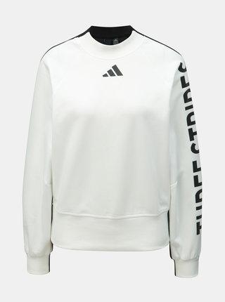 Bluza sport negru-alb de dama cu imprimeu adidas Performance