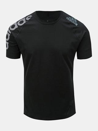 Čierne pánske funkčné tričko s potlačou adidas Performance