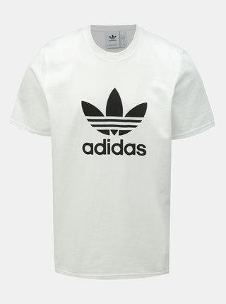 Biele pánske tričko s potlačou adidas Originals Trefoil