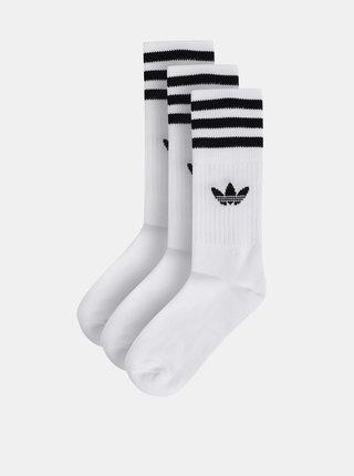 Balenie troch párov bielych ponožiek adidas Originals
