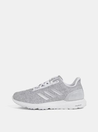 Sivé dámske melírované tenisky adidas CORE Cosmic 2